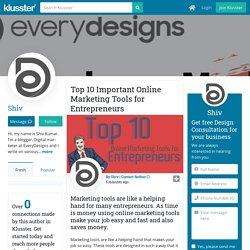 Top 10 Important Online Marketing Tools for Entrepreneurs