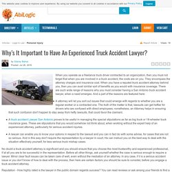 Why's It Important to Have An Experienced Truck Accident Lawyer?