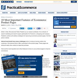 10 Most Important Features of Ecommerce Product Pages