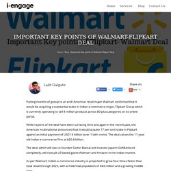 Important Key points of Flipkart-Walmart Deal