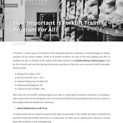 How Important Is Forklift Training Program For All?