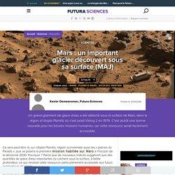 Mars : un important glacier découvert sous sa surface (MAJ)