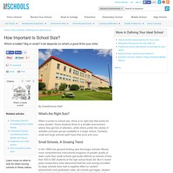 How Important Is School Size? - Defining Your Ideal School