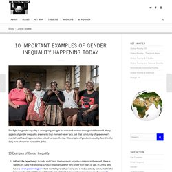 10 Important Examples of Gender Inequality Happening Today