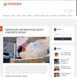 Important Information About Concrete Repair