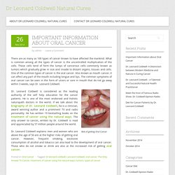 Important Information about Oral Cancer