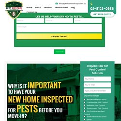 Why is it important to have new home inspected for pests before you move-in?