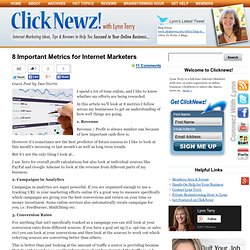8 Important Metrics for Internet Marketers