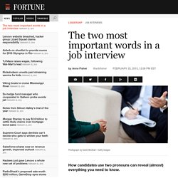 These Are the 2 Most Important Words in a Job Interview