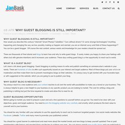 Why Guest Blogging is Still Important - Janbaskdigitaldesign Blog