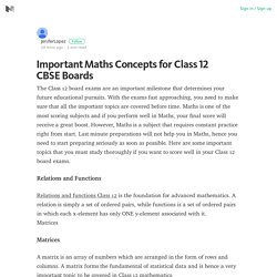 Best Online Tutorials for Relations & Functions Chapter of Class 12th