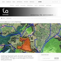 Getting Started with ArcGIS and Some Important Things a Landscape Architect Should Know