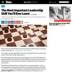 The Most Important Leadership Skill You'll Ever Learn