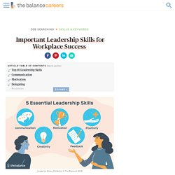 Important Leadership Skills for Workplace Success