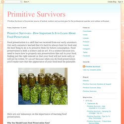 How Important Is It to Learn About Food Preservation