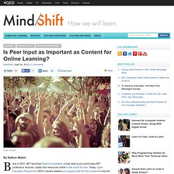 Is Peer Input as Important as Content for Online Learning?