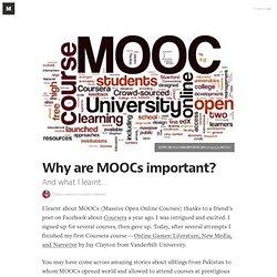 Pourquoi sont MOOCs important? - Medium