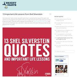 13 Important Life Lessons from Shel Silverstein | Bright Drops