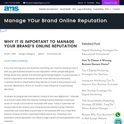 Why it is important to manage your brand online