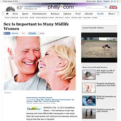 Sex Is Important to Many Midlife Women