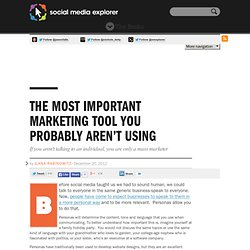 The Most Important Marketing Tool You Probably Aren't Using