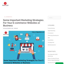 Some Important Marketing Strategies For Your E-commerce Websites or Business