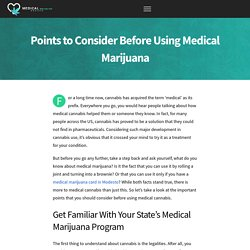 Important Points for Using Medical Marijuana in modesto