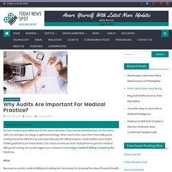 Why Audits are important for Medical Practice?