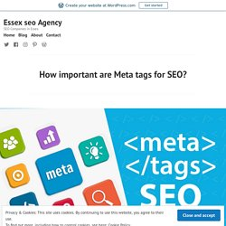 How important are Meta tags for SEO? – Essex seo Agency