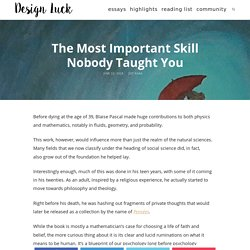 The Most Important Skill Nobody Taught You
