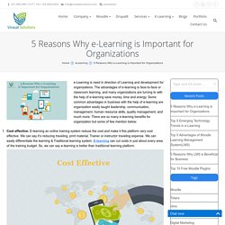 5 Reasons Why e-Learning is Important for Organizations