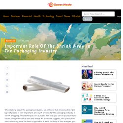 Important Role of the Shrink Wrap in the Packaging Industry