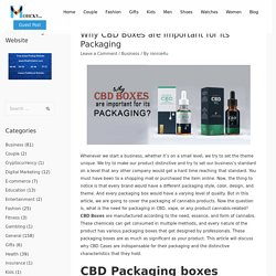 Why CBD Boxes are Important for its Packaging - Mohcky.com - Free Guest Posting Website