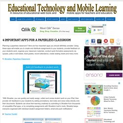 4 Important Apps for A Paperless Classroom