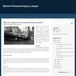 Best car accident attorney Denver
