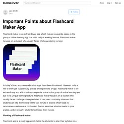 Important Points about Flashcard Maker App