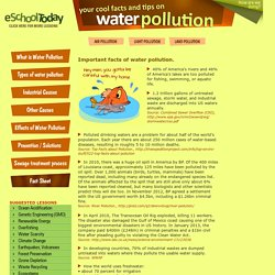 Important facts and tips on water pollution for children