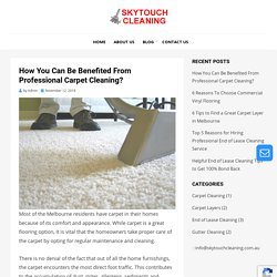 How You Can Be Benefited From Professional Carpet Cleaning?