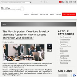 Important Questions To Ask Marketing Agency On How To Succeed Online