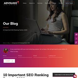 10 Important SEO Ranking Factors 2020