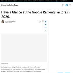 Important seo ranking factor 2020