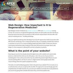 Web Design: How Important Is It to Regenerative Medicine?