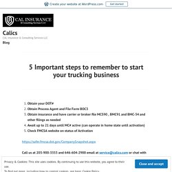 5 Important steps to remember to start your trucking business – Calics