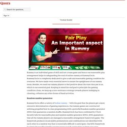 Fair Play an Important aspect in Rummy - RummyCircle Reviews - Quora