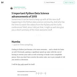 5 important Python Data Science advancements of 2015