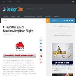 10 Important jQuery Selectbox/DropDown Plugins