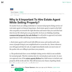 Why Is It Important To Hire Estate Agent While Selling Property?