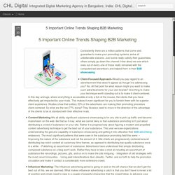 5 Important Online Trends Shaping B2B Marketing