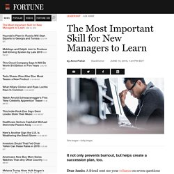 The Most Important Skill for New Managers to Learn