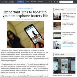 Important Tips to boost up your smartphone battery life